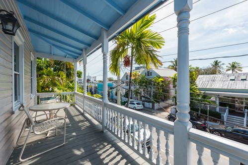 scenic balcony views of downtown Key West, Florida
