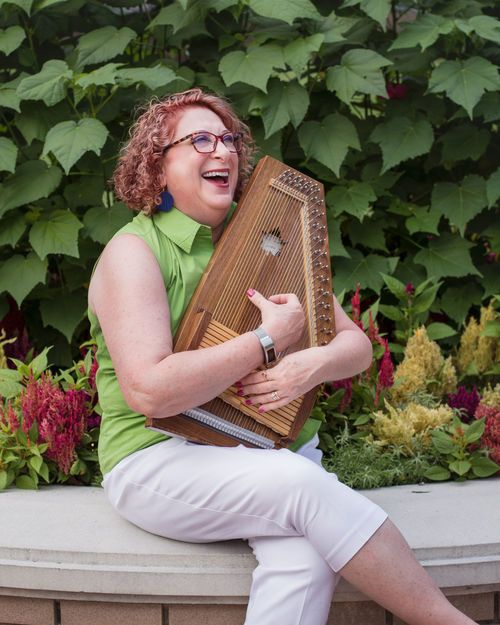Kathy with her Autoharp