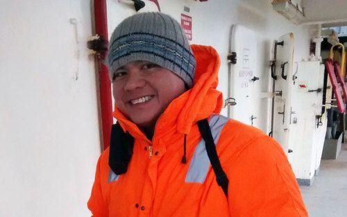 Happy seafarer