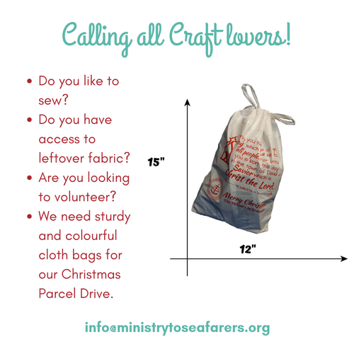 Christmas parcel bag craft