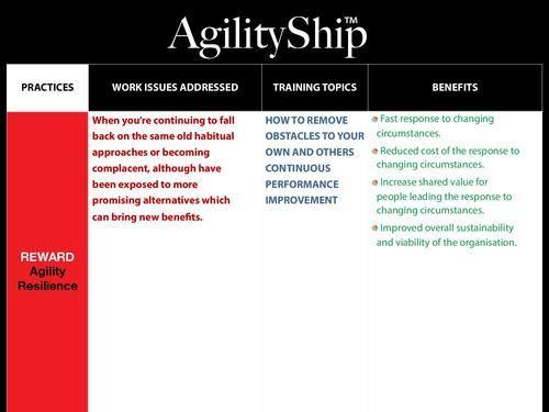 AgilityShip Practice #12 Agility Resilience