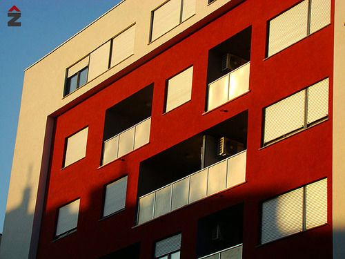 centar zvonimir, Zagreb, Tehnika, fasada