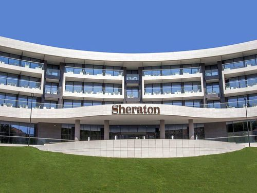hotel sheraton, tehnika, fasada