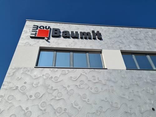 baumit skladište, centrala, dekorativna tehnika, Caparol, Baumit, ETICS fasada