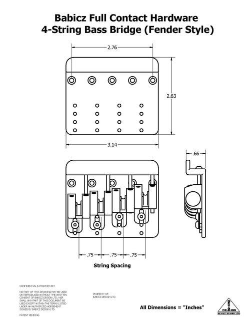 Precision Bass Dimensions
