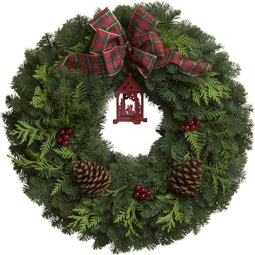 Vintage Lantern Wreath