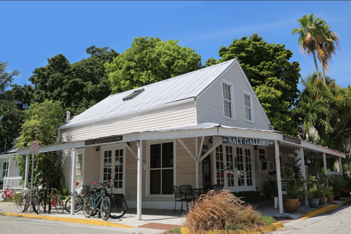 exterior of SALT island provisions and Gallery located at 830 Fleming street in Key West, Florida
