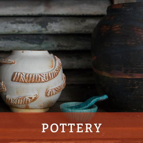 explore pottery available for sale at SALT island provisions